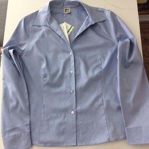 Anne Klein non-iron blue shirt